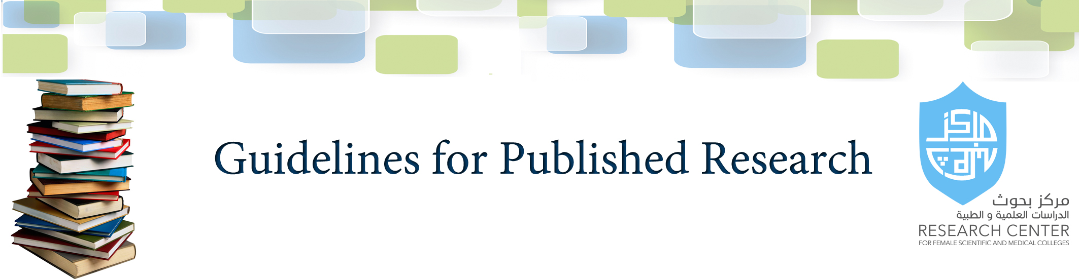 Guidelines for Published Research -  